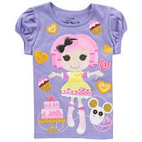 Lalaloopsy Girls' Junior Crumbs Sugar Cookie Purple Short Sleeve Knit Top - Size 6X