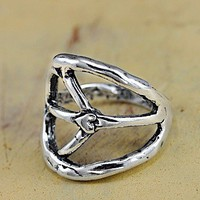 Long Peace Sign Ring by Island Cowgirl Jewelry