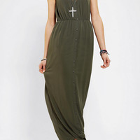 Urban Outfitters - Sparkle & Fade Chiffon Button-Front Maxi Dress