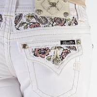 Miss Me Floral Stretch Cropped Jean