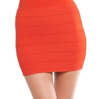 G2 Chic Gold Bandage Bodycon Skirt