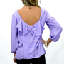 Mary-Lou Lavender Back Bow Blouse