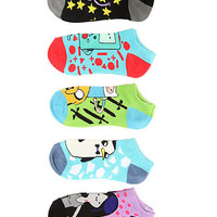 Adventure Time Finn Sword No-Show Socks 5 Pair | Hot Topic