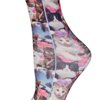 Multi Cat Digital Ankle Socks - New In This Week  - New In