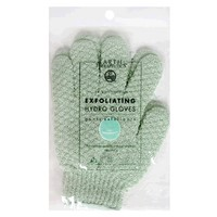 Earth Therapeutics Hydro Exfoliating Gloves, Jade, 1 pair (Pack of 4)