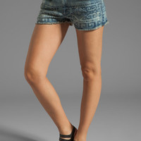 Current/Elliott The Boyfriend Short in Bleach Out with Tribal Print from REVOLVEclothing.com