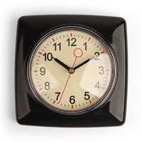 Kikkerland Design Inc   » Products  » Retro Wall Clock +  Multiple Colors