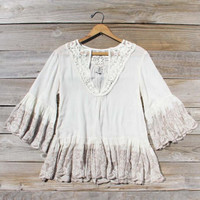 Mellow Twilight Blouse, Sweet Bohemian Lace Tops