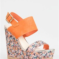 Betsey Johnson RAMBLING Floral Wedge Sandal | Shop Betsey Johnson Shoes
