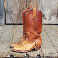 Vintage Frye Rugged Cowboy Boots, Sweet Vintage Cowboy Boots