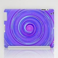 Re-Created Spin Painting (Purple) iPad Case by Robert Lee