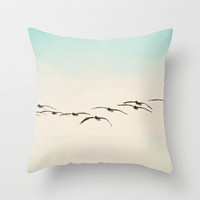 Pelicans Throw Pillow by Bree Madden