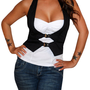 City Lover (Black/White)-Great Glam is the web's top online shop for trendy clubbin styles, fashionable party dress and bar wear, super hot clubbing clothing, stylish going out shirt, partying clothes, super cute and sexy club fashions, halter and tube to