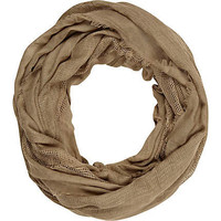 Khaki green gauze laddered snood - scarves - accessories - women