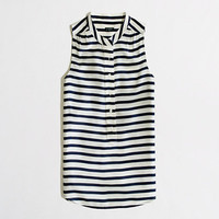 Factory stripe sleeveless popover