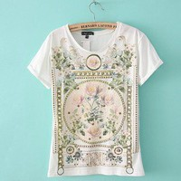 Restoring ancient ways is royal printing of pure cotton T-shirt