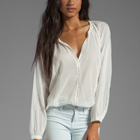 Joie Narisca Eyelet Blouse in Porcelain from REVOLVEclothing.com