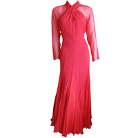 Travilla Coral evening dress