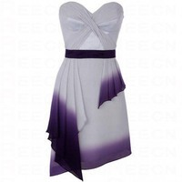 Bqueen Beautiful Dip Dyed Chiffon Dress K087E - Evening Dresses - Special Occasion Dresses - Apparel