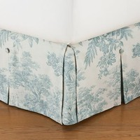Matine Toile Pleated Bed Skirt