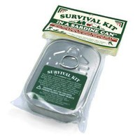 ThinkGeek :: Survival Kit in a Sardine Can