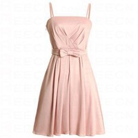 Bqueen Detachable Straps Dress Pink FK008F - Celebrity Dresses - Apparel