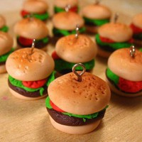 Cute Hamburger Charms 