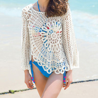 SakuraShop — Knitted Hollow Summer Beach Gown