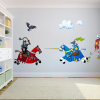 Knights Jousting Wall Sticker