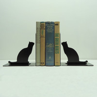 Cat Bookends Free USA Shipping by KnobCreekMetalArts on Etsy