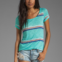 Splendid Hermosa Slub Stripe Tee in Waterfall from REVOLVEclothing.com