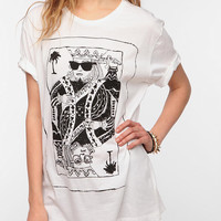 Urban Outfitters - LEAF King Of Cards Oversized Tee