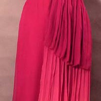 SUPERB Ombre Dyed Gathered Gossamer Column Gown VINTAGEOUS VINTAGE CLOTHING