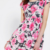 Motel Mindy Floral Babydoll Dress