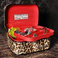 Leopard Print Vintage Style Train Case from Pinup Couture