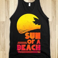 Sun of a Beach (Dark) - Beachspeech - Skreened T-shirts, Organic Shirts, Hoodies, Kids Tees, Baby One-Pieces and Tote Bags