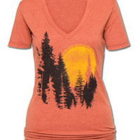Whose Woods Are These Women&#x27;s V-Neck T-Shirt: Soul-Flower Online Store