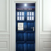 "Amazon.com: Wall Door STICKER Tardis Doctor Dr Who Police box movie poster, mural, decole, film 30x79"" (77x200 Cm): Home & Kitchen"