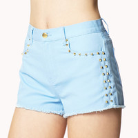Studded Denim Cut Offs