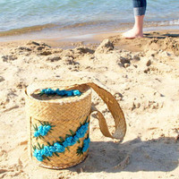 FABULOUS FIFTIES BEACH Bag // Vintage Round by ACESFINDSVINTAGE