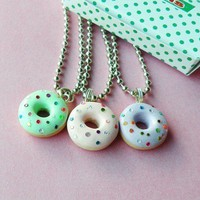 Sparkly Donut Necklaces | BabyLovesPink - Jewelry on ArtFire