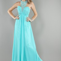 Jovani 1998 Beaded Turquoise Evening Gown