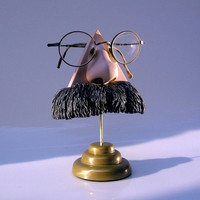 Eyewear Display, Nietzsche Nose Eyeglass stand, men, eyeglasses accessory, unusual, fun, funky
