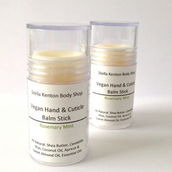 Vegan Rosemary Mint Hand & Cuticle Balm Stick, Natural