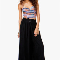 A'GACI SMOCKED HI-WAIST PALAZZO PANTS - BOTTOMS