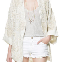 EMBROIDERED AND BEADED KIMONO - Blazers - TRF - ZARA United Kingdom