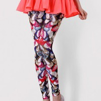 Fashion Shoes Print Leggings