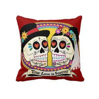 Los Novios (English) Pillow from Zazzle.com