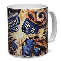 Doctor Who Van Gogh TARDIS Mug