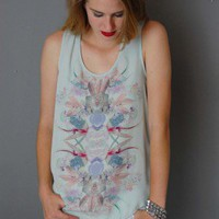 Floral Watercolor Tank